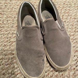 Gray Suede Slip On Vans